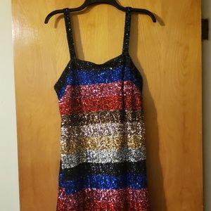 Gap Sequin sleeveless dress